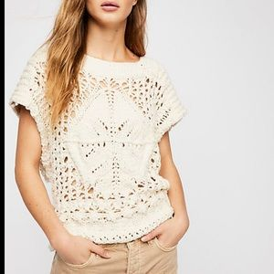 NEW Free People Diamond in the Rough Sweater M